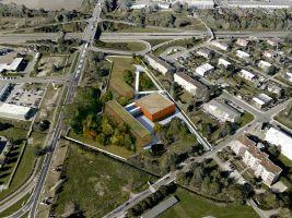 zdroj Adam Rujbr Architects Popisek: Budova depozitáře a její okolí