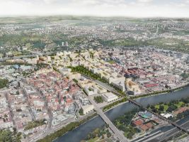 zdroj IPR Praha Popisek: Bubny-Zátory, vizualizace nové čtvrti