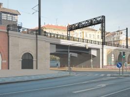 Vizualizace modernizovaného Negrelliho viaduktu