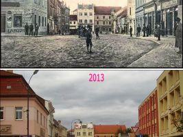 zdroj fotostory.cz Popisek: Malé náměstí v Benešově