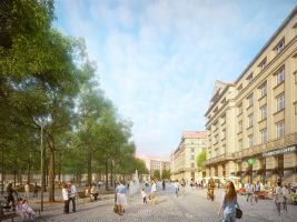 Tiskové oddělení IPR Popisek: Vizualizace proměny Vítězného náměstí v Praze, první místo