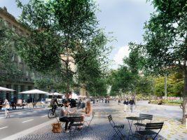 Tiskové oddělení IPR Popisek: Vizualizace proměny Vítězného náměstí v Praze, třetí místo