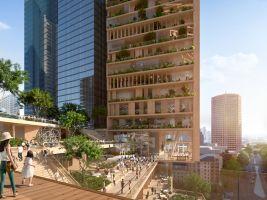 zdroj Norm Li Popisek:Zeleň bude významným prvkem na obou budovách