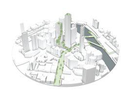 zdroj Norm Li Popisek: Plánované využití zeleně v oblasti Southbank