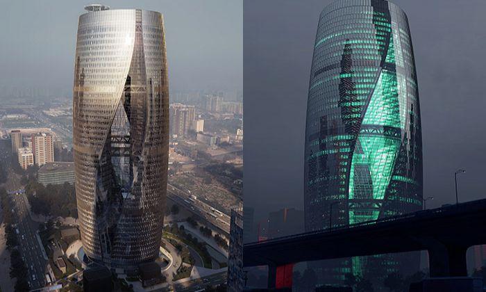 Atrium v čínském mrakodrapu bude nejvyšší na světě