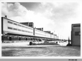 Dobová fotografie Nákladové nádraží Žižkov