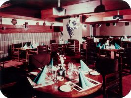 Historická fotografie reastaurace hotelo InterContinental Praha
