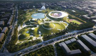 "Construction Breaks Ground on MAD's ""Quzhou Sports Campus"" in China"