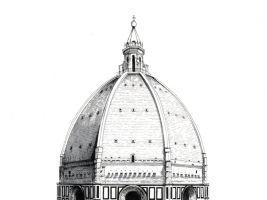 zdroj lorenzoconcas.com/ Popisek: Kopule Bruneleschiho dómu ve Florencii