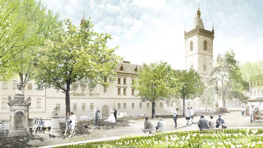 Další kroky revitalizace Karlova náměstí v Praze: Hospodaření s dešťovou vodou a management plán