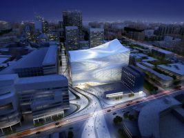 dance & music center, the hague - image courtesy of zaha hadid architects