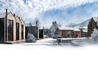 Demänová village, v Nízkých Tatrách vyrůstá nová vesnička