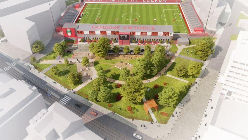 Dolní Žižkov může oživit rekonstrukce stadionu a přilehlého parku