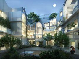 zdroj MAD Architects Popisek: Vizualizace Zahradního domku v Beverly Hills