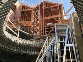 zdroj MAD Architects Popisek: Centrální nádvoří mezi domy bude fungovat jako světlík pro atrium dole