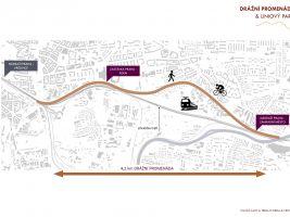 Mapa Drážní promenády