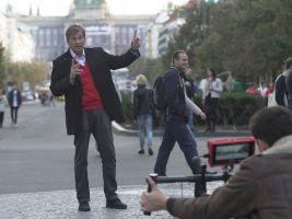 Zdeněk Lukeš při natáčení pořadu Skryté poklady architektury