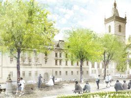 Tiskové oddělení IPR/ E. Rehwaldt Popisek: Vizualizace proměny Karlova náměstí