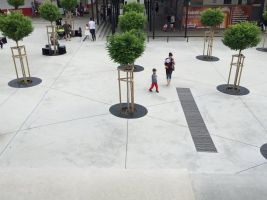 zdroj archinfo.sk Popisek: Exteriér, Námestie Centrum, Sídlisko III, Prešov