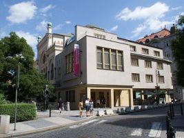 zdroj Wikimedia commons/ Feťour Popisek: Exteriér Španělské synagogy
