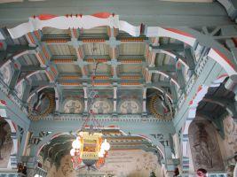 Původní strop restaurace Libušín