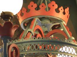 Původní lustr, restaurace Libušín