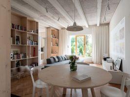zdroj archinfo.sk Popisek: Interiér, Prízemný byt pri kalvárii, Bratislava