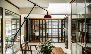 Interior of Saransh Architecture Studio in Ahmedabad, India