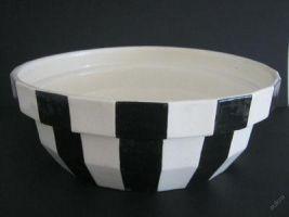Umyvadlo, součást výbavy. Autor Pavel Janák, keramika Artěl