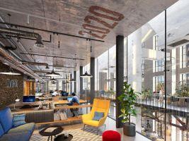 zdroj Penta Real Estate Popisek: Jurkovičova tepláreň - vizualizácia coworkingu