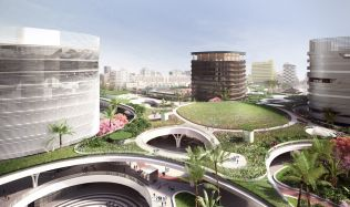 Kaohsiung Station in Kaohsiung City, Taiwan by Mecanoo