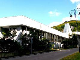 zdroj Wikimedia commons/ Vitezslava Popisek: Vřídelní kolonáda v Karlových Varech je rovněž dílem Jaroslava Otruby