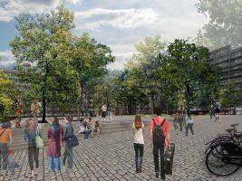 zdroj Pavla Melková Popisek: Revitalizace Komenského náměstí v Praze 3