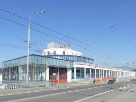 zdroj Wikimedia commons/ Michal Klajban Popisek: Brněnská vozovna Komín