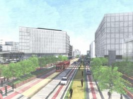 etrend.sk Popisek: Koncept veřejných budov v projektu Eurovea City