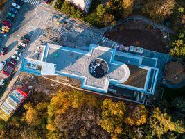 kostel v procesu stavby, foto: Jakub Šerých