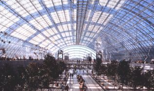 Leipzig Exhibition Glass Hall in Germany by Ian Ritchie Architects