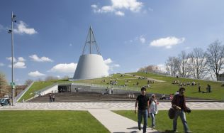 Library of Delft University in Netherlands by Mecanoo