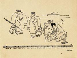 Lístek do Nového světa1 - karikatura - odjezd copy