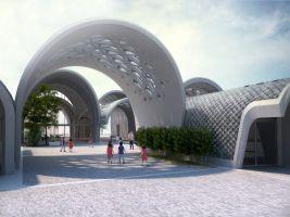 archdaily.com/ Zaha Hadid Architects Popisek: Kampus v provincii Jiangxi v Číně