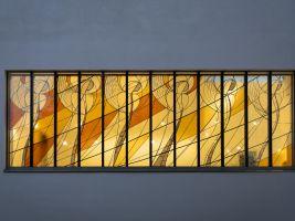 Okna zdobí vitráže, foto: Martina Řehořová
