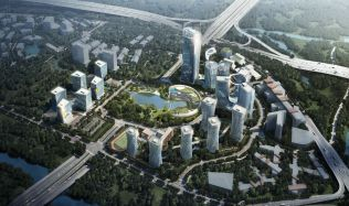 Masterplan of Xiantao Big Data Valley near Chongqing, China by Progetto CMR