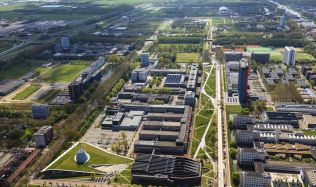Mekel Park at the Delft University of Technology in Netherlands by Mecanoo