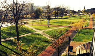 Mekel Park u Delftské technické univerzity v Nizozemí od Mecanoo