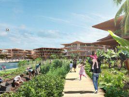 zdroj Oceanix Popisek: Město by bylo postaveno kilometr a půl od pobřeží