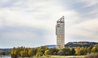 Moderní výškové budovy ze dřeva