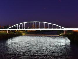 Rozsvícený Hendrixův most