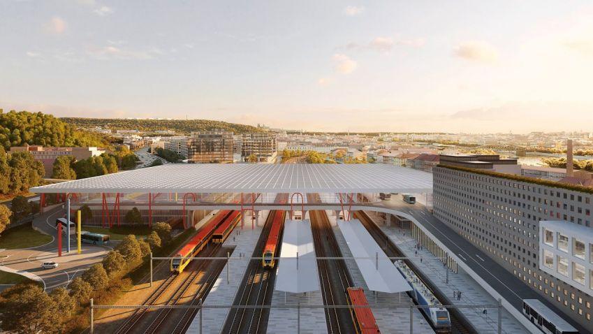 Na Smíchově vznikne dopravní terminál budoucnosti. Návrh počítá s pohodlnějšími přestupy v hromadné dopravě