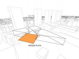 zdroj studio BIG/ Popisek: Vizualizace mešity - technický návrh