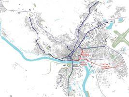 zdroj reality.etrend.sk Popisek: Návrh nové tramvajové traťe
